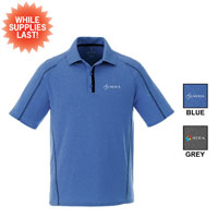 ELEVATE MEN'S HEATHERED POLO