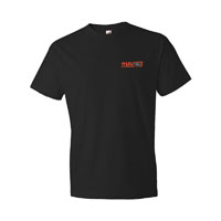 BLACK T-SHIRT LEFT CHEST LOGO